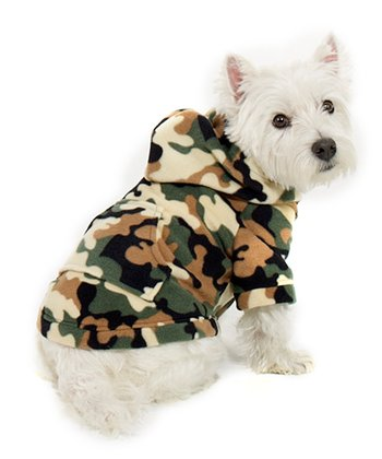 Green Camoforce Pet Hoodie