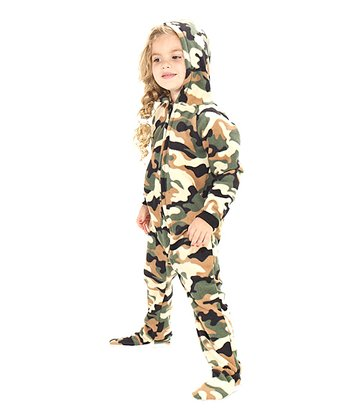 Green Camoforce Hooded Footie - Toddler