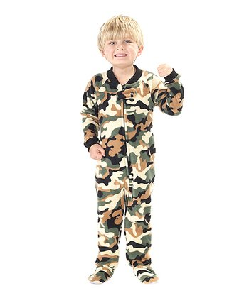 Green Camoforce Fleece Footie - Toddler
