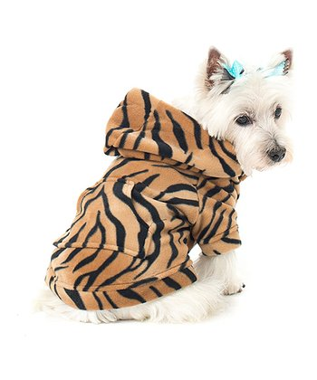 Orange Tiger Stripe Pet Hoodie