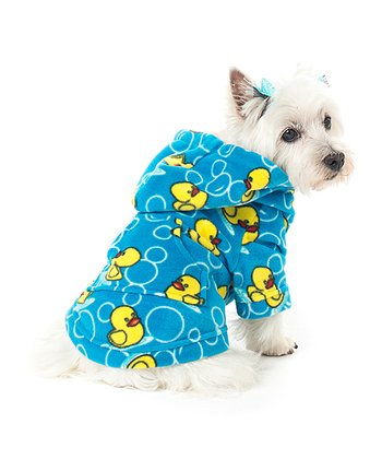 Blue Splish Splash Pet Hoodie
