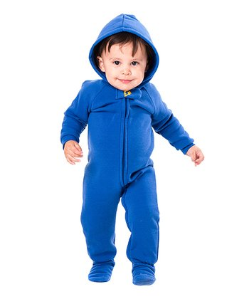Blue Marina Hooded Footie - Infant