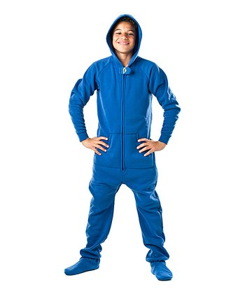 Blue Marina Hooded Footie - Kids