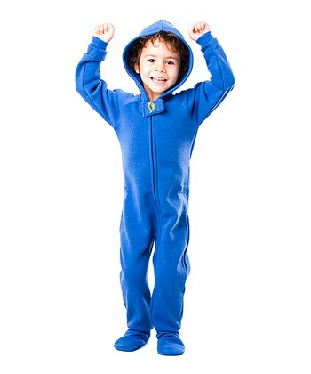 Blue Marina Hooded Footie - Toddler