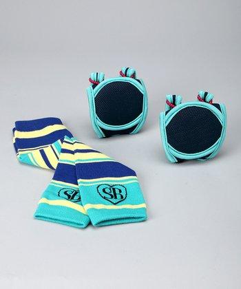 Ocean Blue Knee Pads & Leg Warmers