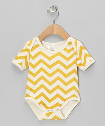 Yellow Zigzag Organic Bodysuit - Infant