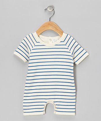 Blue Stripe Organic Romper - Infant