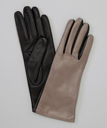 Hematite & Black Nappa & Conductive Leather Gloves