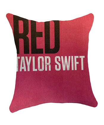 Red 'Taylor Swift' Throw Pillow