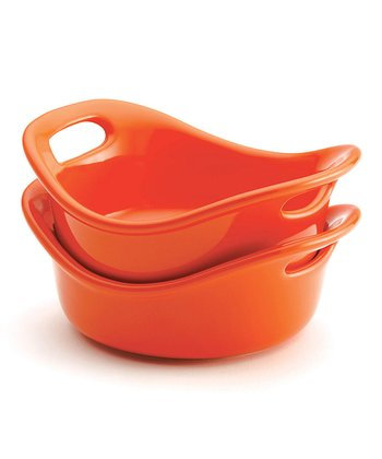 Orange 12-Oz. Round Baking Dish - Set of Two