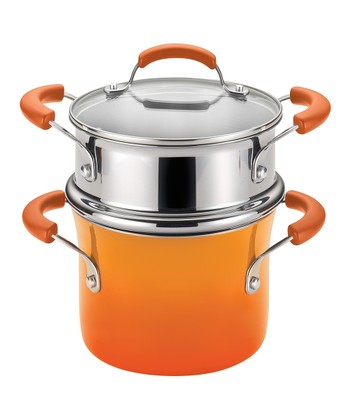 Orange Gradient 3-Qt. Covered Steamer Pot Set