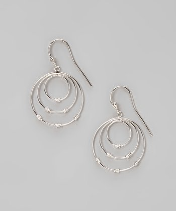 Sterling Silver Triple Circle Earrings