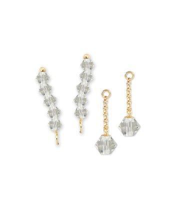 Gold & Crystal Ear Pin Earrings & Enhancers