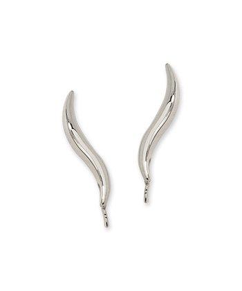 Silver Classic Ear Pin Earrings
