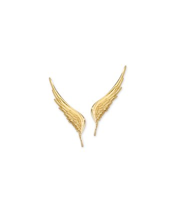 Gold Angel Wing Ear Pin Earrings