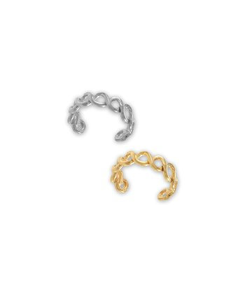 Silver & Gold Braided Ear Cuff Set