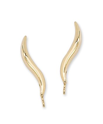 Gold Classic Ear Pin Earrings