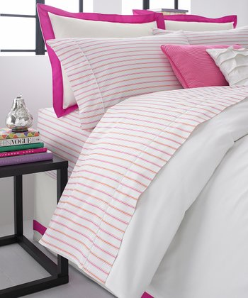 Pink & White Sheet Set
