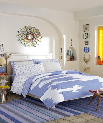 Blue Ikat Comforter Set