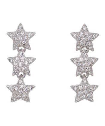 Clear Star Gazer Earrings Made With SWAROVSKI ELEMENTS