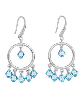 Aquamarine SWAROVSKI ELEMENTS Dew Drop Earrings
