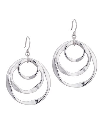 Rhodium Spiral Bound Earrings