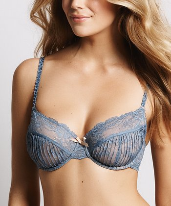 Faded Blue Picturesque Bra