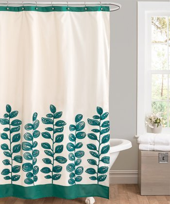 Green Vineyard Allure Shower Curtain
