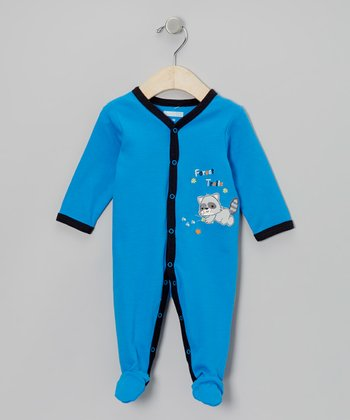 Blue 'Forest Trails' Footie - Infant