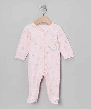 Pink Sleepy Bear Footie - Infant