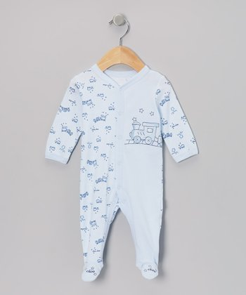 Blue Train Footie - Infant