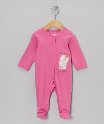 Pink 'Wild About Daddy' Footie - Infant
