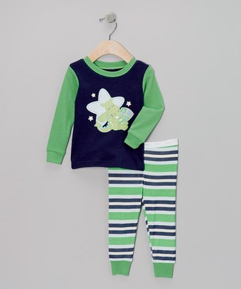 Green Sleepy Dragon Pajama Set - Infant & Toddler