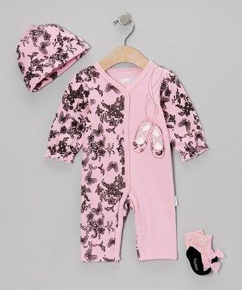 Pink Ballet Slippers Playsuit Set