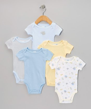 Blue Nursery Animals Bodysuit Set - Infant