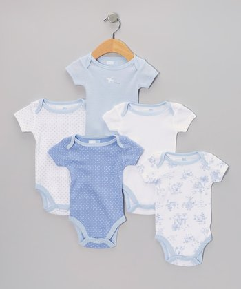 Blue Toile Bodysuit Set - Infant