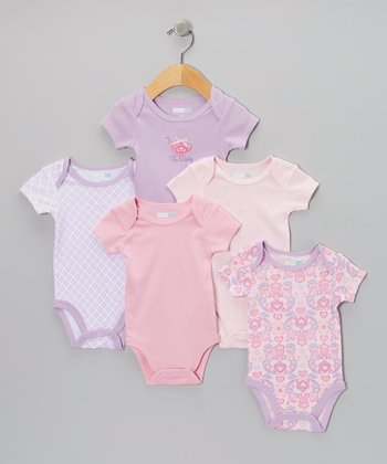 Lavender Tea Party Bodysuit Set - Infant