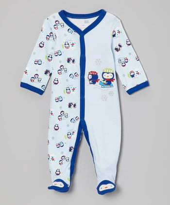 Blue Penguin Footie - Infant
