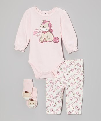 Pink 'Pretty Pony' Bodysuit Set