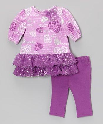 Vitamins Baby Purple 'A Star Is Born' Tutu Dress & Leggings - Infant