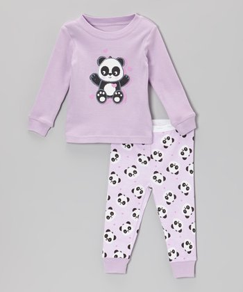 Purple Panda Pajama Set - Infant & Toddler