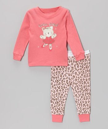 Pink 'Tutu Tired' Ballerina Pajama Set - Infant & Toddler
