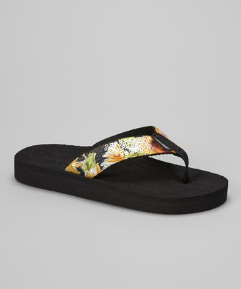 Yellow Sunflower Flip-Flop
