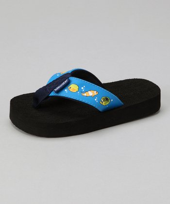 Blue Tropical Fish Flip-Flop - Kids