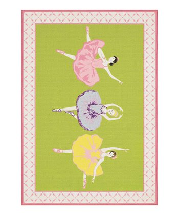 Lime Ballerina Fun Time Rug