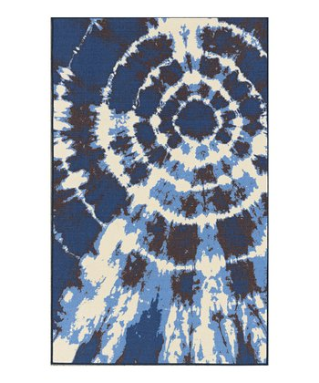 Navy Tie-Dye 4-Ever Young Rug