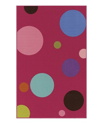 Fuschia Circle 4-Ever Young Rug
