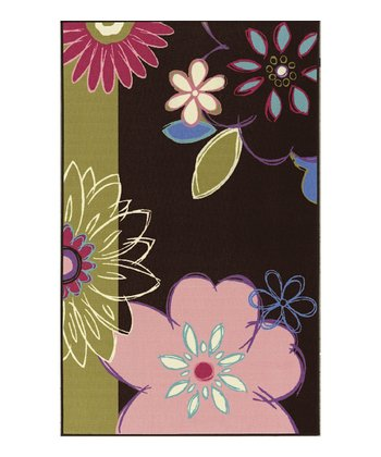 Chocolate Modern Blossom 4-Ever Young Rug