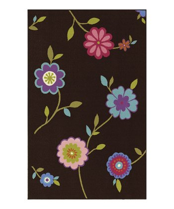 Chocolate Floral 4-Ever Young Rug