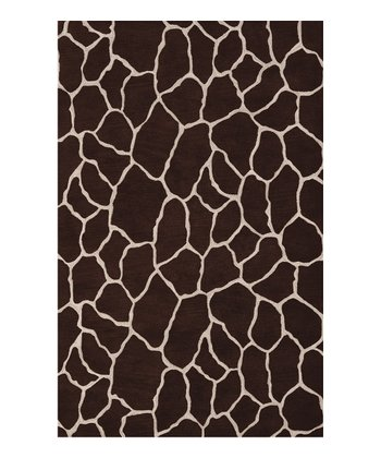 Chocolate Giraffe Safari Rug